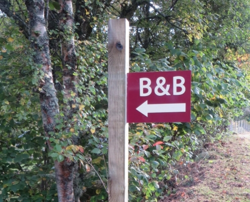 Image of B&B sign